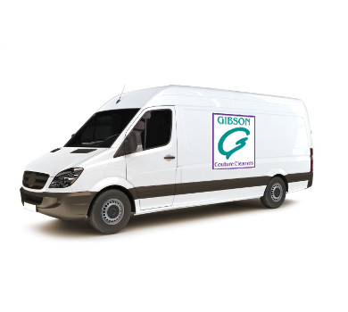 Gibson Couture Cleaners delivery van