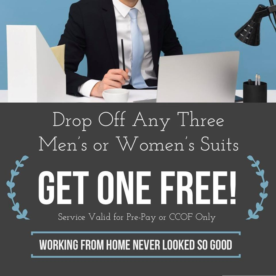 Free Suit Cleaning Special Offer